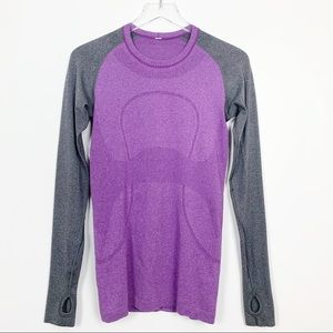 lululemon | Swiftly Tech Long Sleeve Purple / Grey